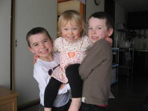 My three little treasures: Ethan, Katie, and Austin