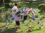 The kids all enjoyed playing on this dome climber at Isabellas birthday party.