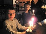 Singing Silent Night by candlelight