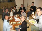 The guests enjoying thier meal!  We always do Thanksgiving dinner potluck style, which means lots of great food that I didn't have to make!