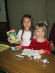 Katie and her friend Julia exchanged Christmas cards.