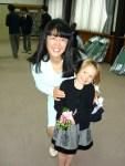 Katie and her super sweet kindergarten teacher, Mrs. Tomuro