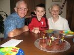 It was still Ethan's birthday when he arrived in Virginia, so Grandma Gibbs made some special birthday brownies for him.
