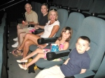 Kung Fu Panda 2 with Grandpa, Aunt Lisa, and friends