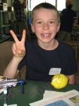 Austin is ready to make his lemon battery!