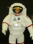 Austin trying to look tough in his Astronaut suit.