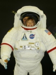 Astronaut Katie at the children's science museum in Utsunomiya