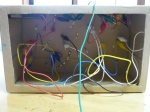 The wiring underneath the frog maze game