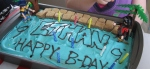 Bryan decorated the two pirate birthday cakes.  I think he did a great job!