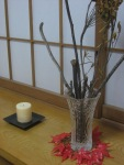 "A little fall decor in our ""genkan"" (the Japanese word for entryway)"