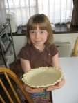 This year Katie helped me make the pumpkin pie.  She did a fantastic job and even got to pinch the edge of the pie crust.