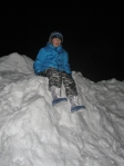Snow mountain climbing!