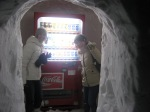 Vending machine inside an igloo!  Only in Japan!