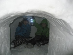 Some of the igloos had lamps inside of them.