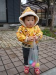 This was little Yujun's first Easter egg hunt!