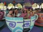 Yoshie and I both despise the teacups, but she amazingly agreed to ride with the girls since Katie needed an adult to go with her.