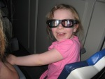 Katie was amazing on all the rides.  Even Space Mountain was no big deal for her.