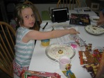 Katie busily creating her cell model (and probably tasting some ingredients along the way!)