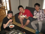 Good friends Taiichi, Kento, and Masato.